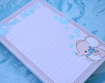 Kawaii Dont Forget Elephant Nugget Notepad