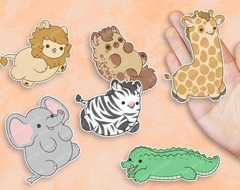 Kawaii Savanna Animals Nugget Stickers