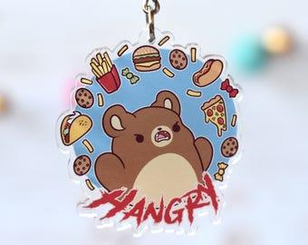 Kawaii Hangry Bear Nugget Acrylic Charm Keychain