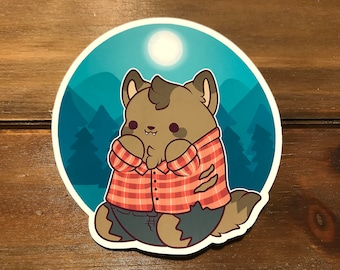 Kawaii Werewolf Nugget Sticker