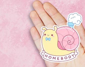 Homebody Snail Vinyl Sticker