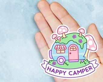 Happy Camper Travel Vinyl Sticker