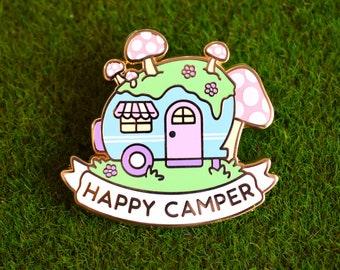 Happy Camper Enamel Pin