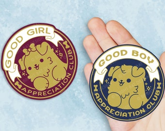 Kawaii Good Boy / Girl Appreciation Club Dog Vinyl Sticker