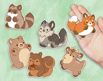 Kawaii Forest Animal Nuggets Sticker Set