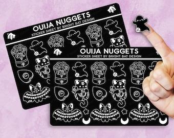 2 Pack - Kawaii Ouija Nuggets Sticker Sheets