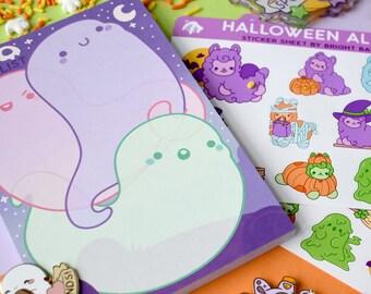 Kawaii To Boo List Ghost Notepad