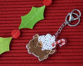 Puppermint Mocha Acrylic Charm Keychain / Ornament