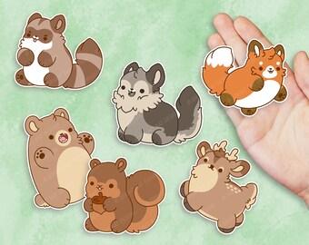 Kawaii Forest Animal Nuggets Sticker Set