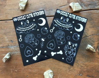 Kawaii Occult Cuties Sticker Sheets