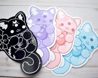 Kawaii Occult Cat Stickers