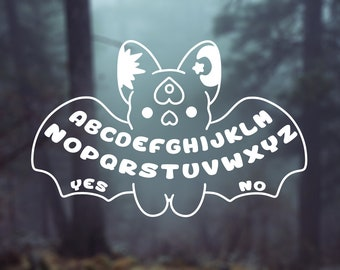Kawaii Ouija Board Bat Vinyl Decal