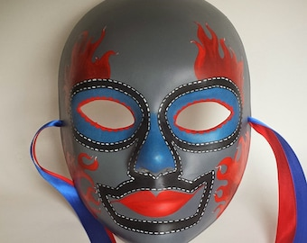 Hand Painted Mask - Lady Luchador