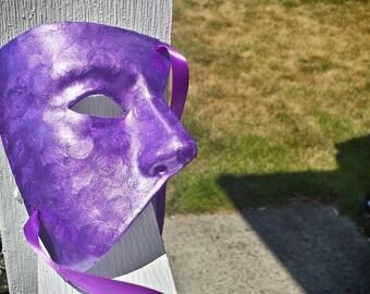 Phantom Masquerade Mask - Swirls Series - Purple