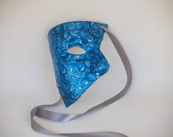 Phantom Masquerade Mask - Swirls Series - Turquoise