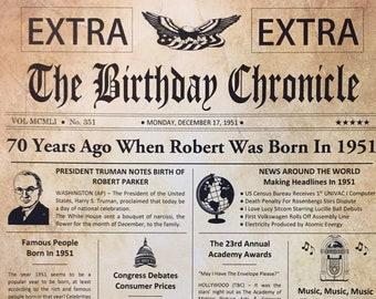 70th Birthday Gift Etsy