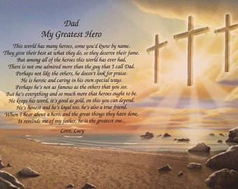 Gifts For Dad Fathers Day Gift Ideas Personalized My Greatest Hero Poem Birthday Him Religious