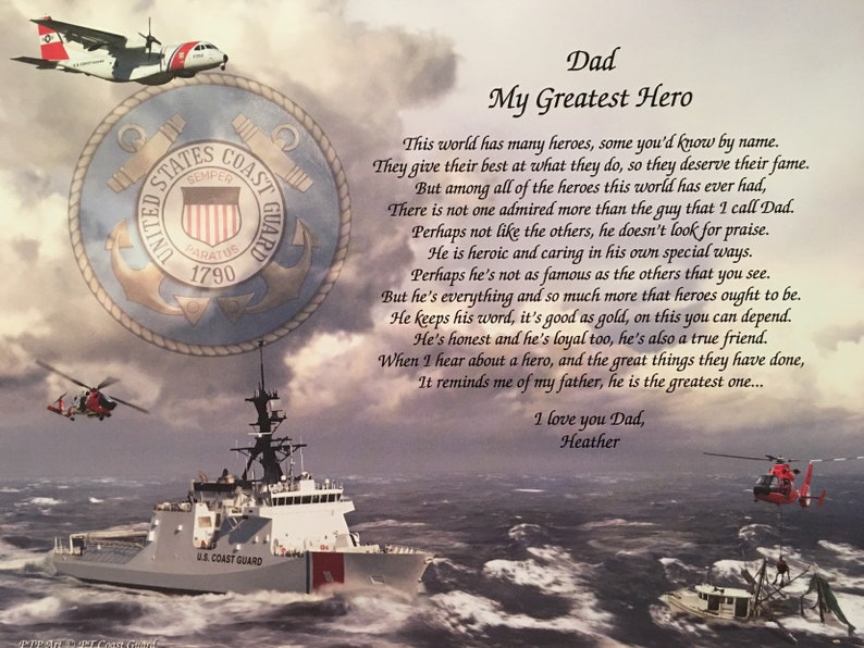 Coast Guard Gifts Fathers Day Birthday Gift For Dad