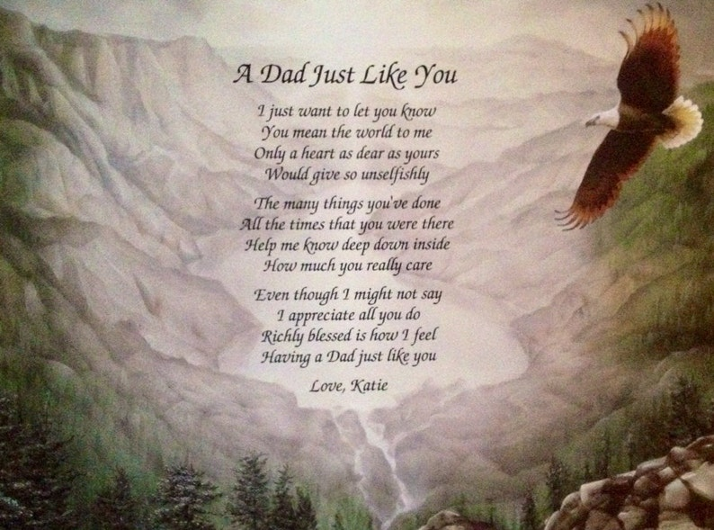 Gift For Dad Fathers Day Personalized Poem