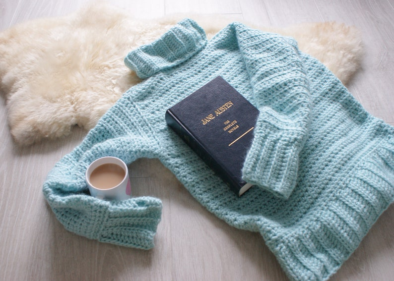 The Cosy Up Sweater Crochet Pattern Warm chunky roll neck image 0