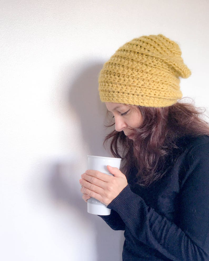 f6756de9c49fc The Beehive Beanie Hat. Crochet pattern for slouchy crocheted