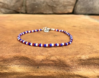 Red, White, and Blue Anklet/Choker