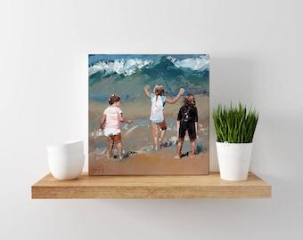Sea Wall Art Decor | Seascape Canvas Art | Wave Art Decor | Seascape | Ocean Waves | Impressionism | Print