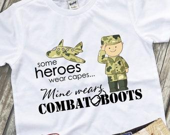 2ccad710 Army Hero Shirt, Military Kids Shirt, Daddy Is My Hero, Army Kid, Army Brat