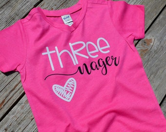 Funny Threads Outlet Im 3 Years Old Birthday Third 3rd Bday Party Toddler Shirt