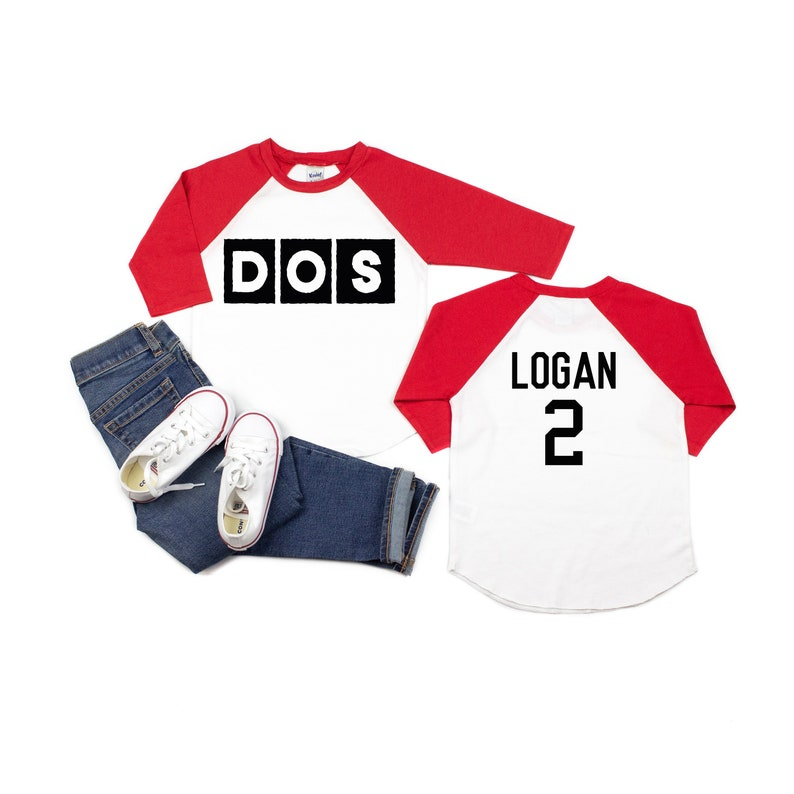Boys Dos Personalized Shirt 2nd Birthday Two Year Old