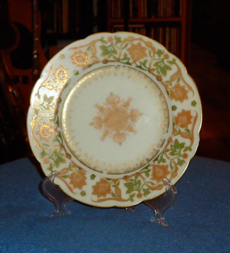 Boston Limoges Porcelain Desert Plate Circa early-mid 19th Century Richard Briggs Co