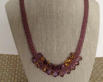 Kumihimo necklace set