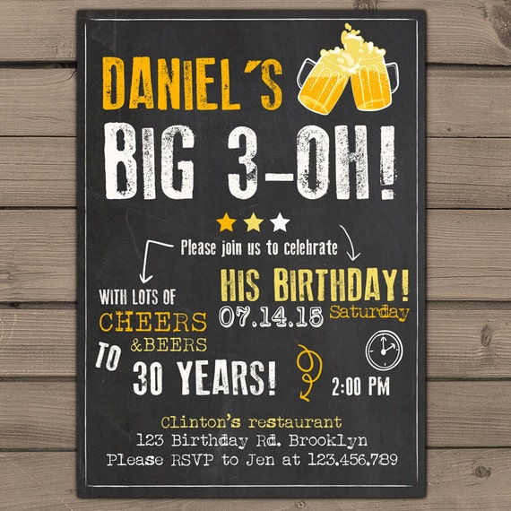 Items Similar To 30th Birthday Invitation Surprise Party