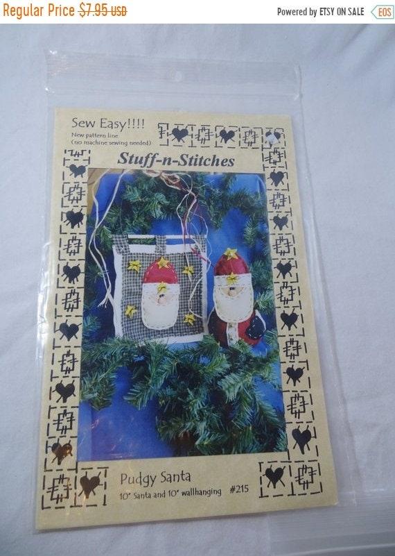 20 Off Sale Stuff N Stitches Pudgy Santa Pattern Kit Free Etsy