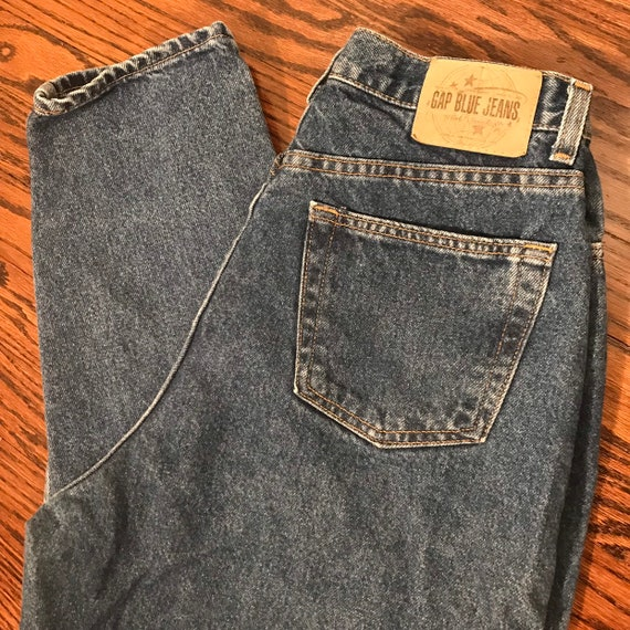 Vintage 1990's GAP Reverse High Waist Mom Jeans -