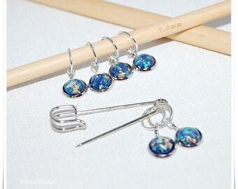 Stitch Markers for knitting aurora Glitter Ring Stitch Markers Aurora