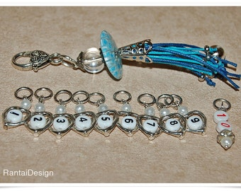 Stitch Markers for knitting number markers knitting accessories numbered Ring stitch Markers
