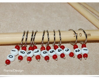 Stitch markers for knitting with numbers ring stitch markers numbered