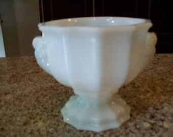 Vintage E. O. Brody Co. Milk Glass Vase or Urn