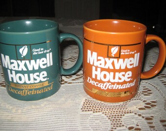 2 Vintage Maxwell House promotional mugs
