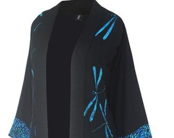 Women's 3x PLUS Size Kimono,  4x PLUS Size Kimono, Dressy Jacket with Pockets, Made to Order 3x or 4x, Pocket Kimono Style w/ Shell Buttons