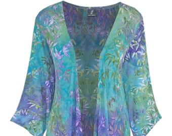Plus Size Cascade Cardigan, Oversize Long Sleeve Women's Plus Size Jacket, Art Wear Clothing for Plus Size 1x 2x Women, Long Sleeve Jacket