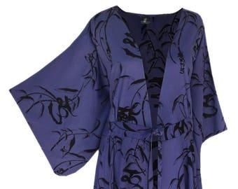 Women's Plus Size Kimono Cardigan Clothing   Lagenlook Boho Style Jacket with Kimono Sleeve, XL 1X Clothes