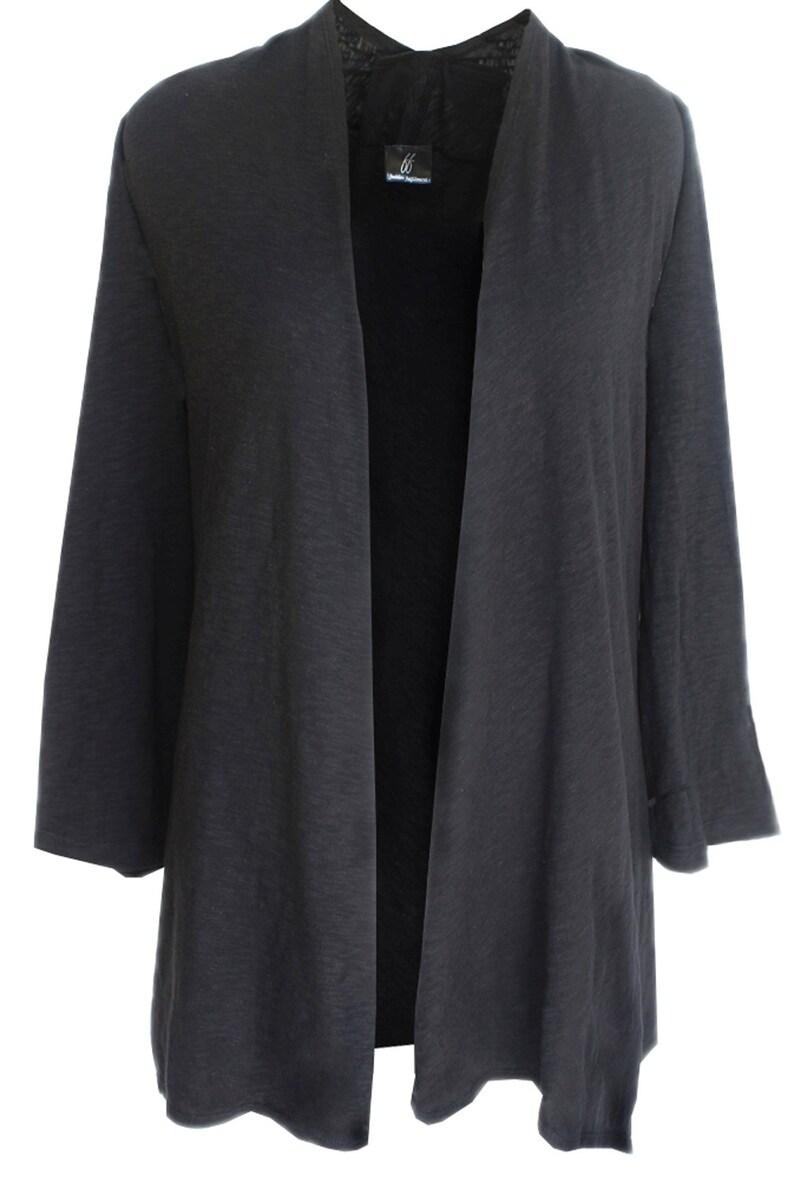 7a8a8b7f0b Cotton Kimono Cardigan Long Sleeve Cardigan Hanky Hem Tunic