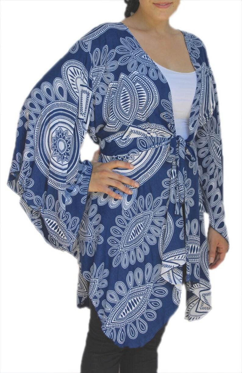 Boho Kimono Sleeve Jacket Lagenlook Plus Size 2X3X for FULL FIGURE Women Women/'s Kimono Plus Size Tunic Cardigan XL and One Size