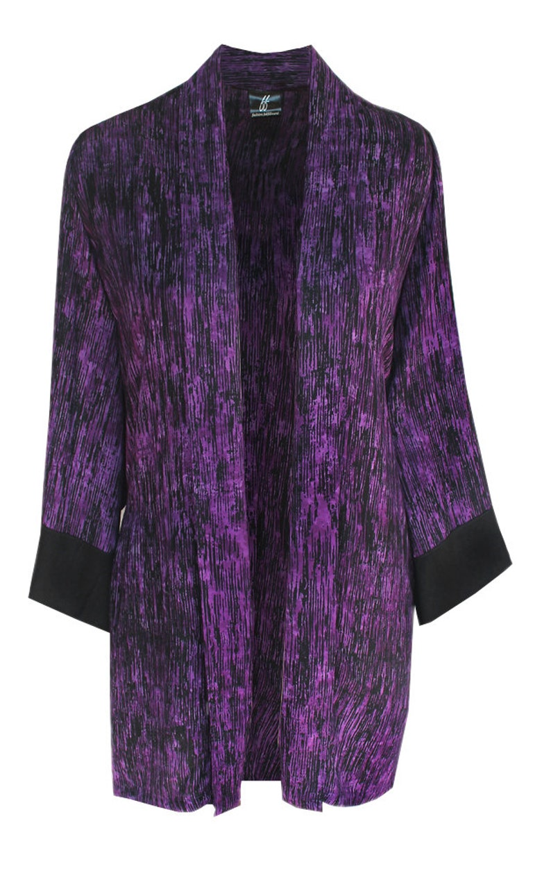 f494e24cab6b Women s Kimono Jacket Purple Plus Size Cardigan