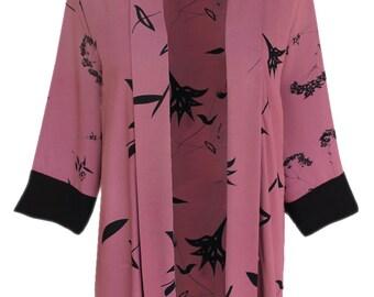 Plus Size Women's Clothing, Woman Oversized Cardigan, Lagenlook Plus Size Kimono Jacket Cardigan, One Plus Size (1x 2x) Clothes, Boho Kimono