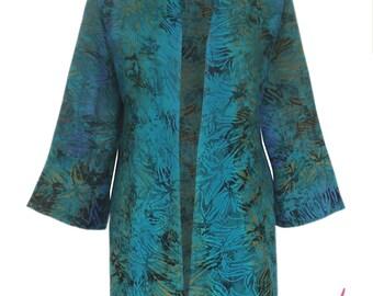 Plus Size Cardigan Kimono   Oversized Boho Kimono Cardigan   Plus Size Jacket,  Women's Handmade Clothes, One Plus Size (1x-2x) Clothing
