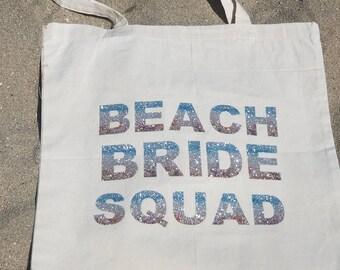 Beach Bride Squad Tote Bag
