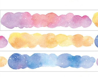 Star and Cloud Washi Tape --Masking Washi Tape -Deco tape--23mm x10M